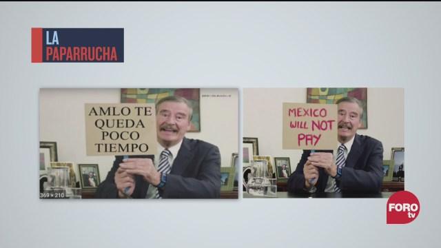 Vicente Fox amenaza a AMLO, la paparrucha del día
