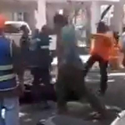 Video: Ciudadanos golpean a supuestos asaltantes en Coyoacán