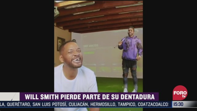 will smith perdio los dientes jugando golf