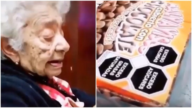 El nuevo etiquetado en bombones causó reacción de abuelita