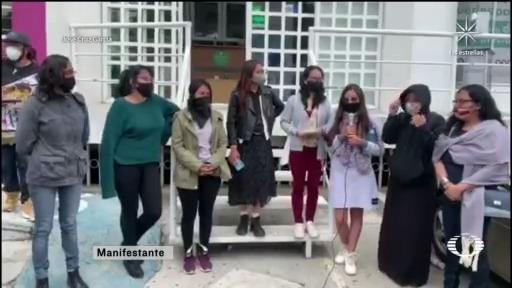 activistas se manifiestan contra desalojo de la cndh del edomex