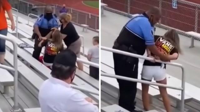 Policía dispara teaser a mujer por no usar cubrebocas