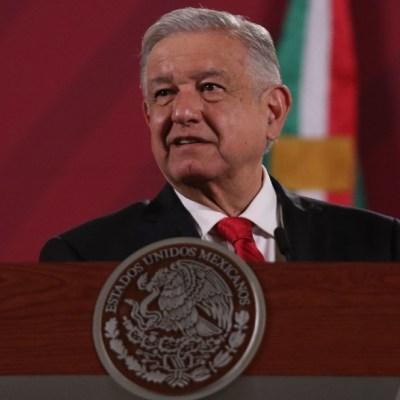 El presidente Andrés Manuel López Obrador durante la conferencia matutina