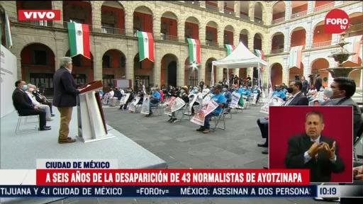 amlo encabeza ceremonia a 6 anos de la desaparicion de 43 normalistas de ayotzinapa