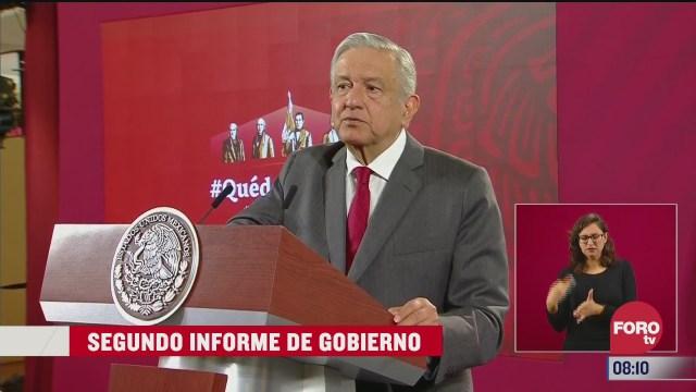 amlo ofrecera informe de gobierno