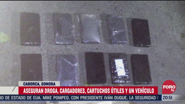 aseguran drogas y arsenal en caborca