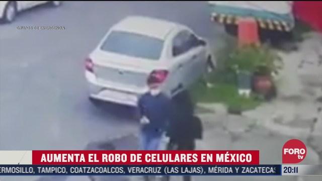 aumenta robo de celulares en mexico