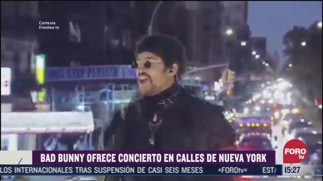 bad bunny da concierto virtual ante 1 5 millones de personas en nueva york
