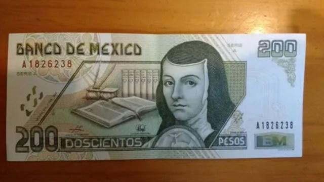 El billete de 200 pesos de Sor Juana fue distribuido por primera vez en 1994 y se vende hasta en dos mil pesos, Captura de Pantalla
