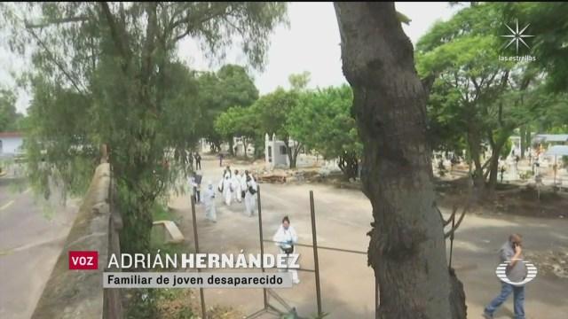 Buscan en panteón a jóvenes desaparecidos en Azcapotzalco