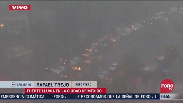 cae intensa lluvia en la ciudad de mexico
