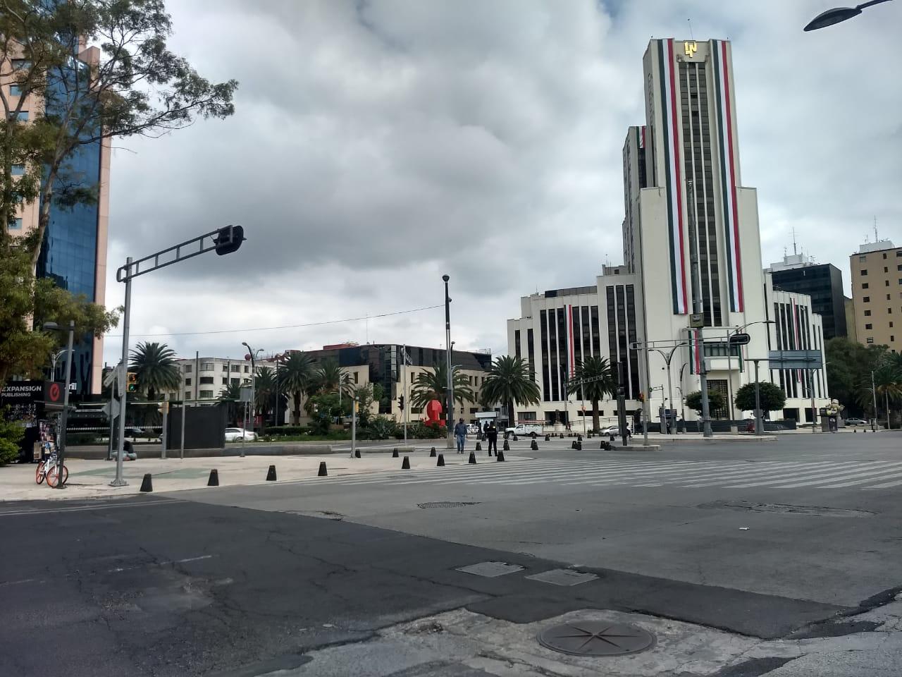 Calles cerradas en centro