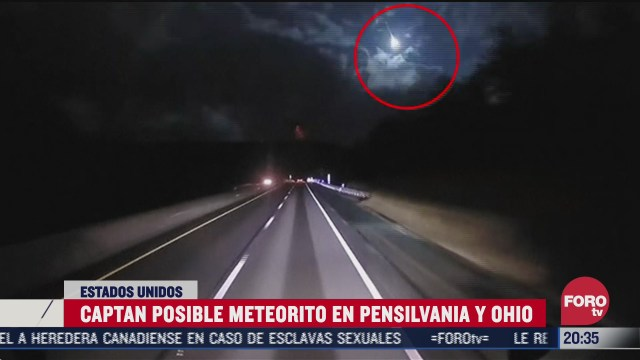 captan posible meteorito en pensilvania y ohio eeuu