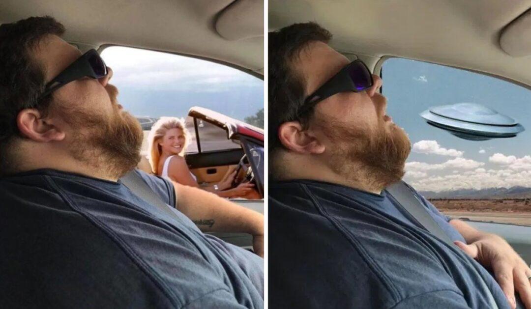 La broma de mujer a su esposo en foto donde parece dormido