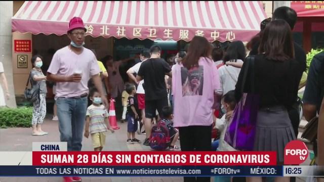 china suma 28 dias sin contagios de coronavirus