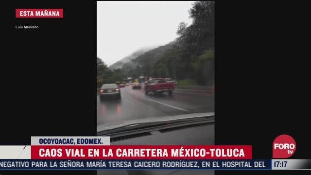 chocan dos trailers en la mexico toluca