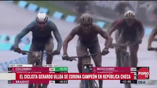 ciclista gerardo ulloa campeon en prueba short track en republica checa