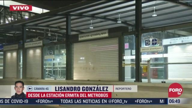 cierran estacion del metrobus ermita iztapalapa por obras
