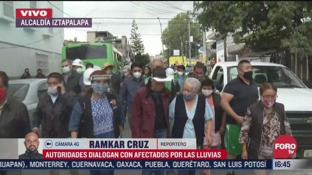 claudia sheinbaum dialoga con afectados por lluvias en la alcaldia iztapalapa