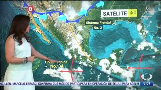 clima al aire frente frio 2 provocara bajas temperaturas en mexico