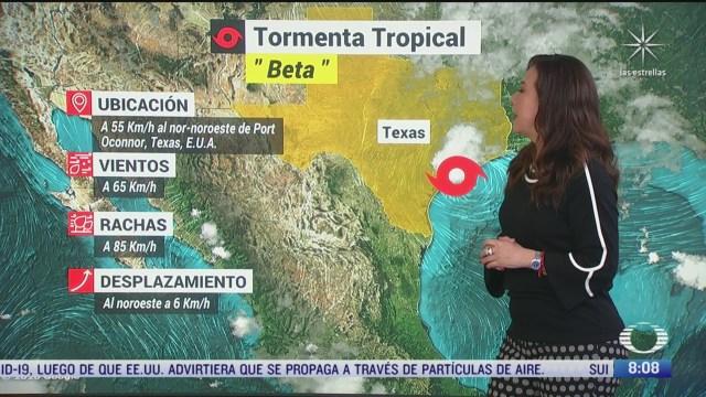 clima al aire tormenta tropical beta toca tierra en texas estados unidos