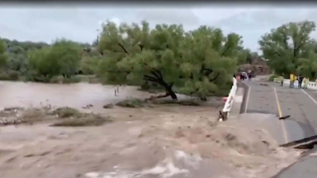 Colapsan los puentes Buenavista y San Antonio, en Durango, tras fuertes lluvias