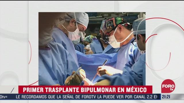 como es el trasplante bipulmonar para paciente covid