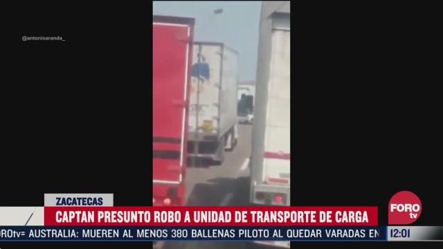 conductor narra como asaltantes se llevan a operador y roban trailer