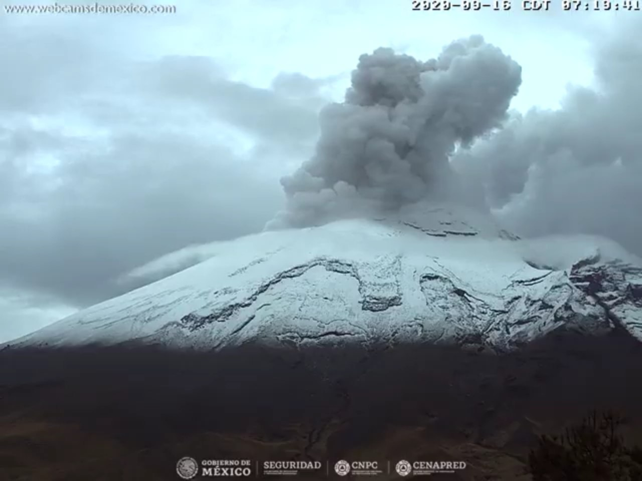 cono nevado del volcán popocatepetl
