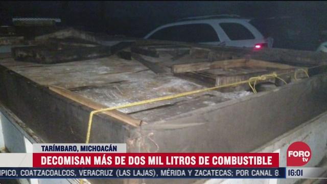 decomisan combustible robado en michoacan