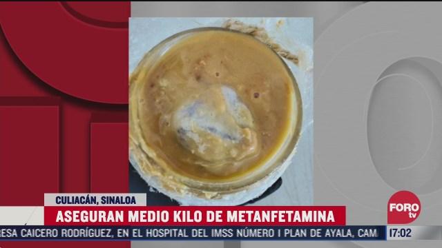 decomisan metanfetamina en aeropuerto de culiacan