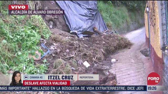 deslave deja varios heridos en alcaldia alvaro obregon