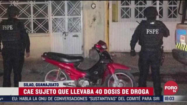 detienen a hombre por narcotrafico en silao