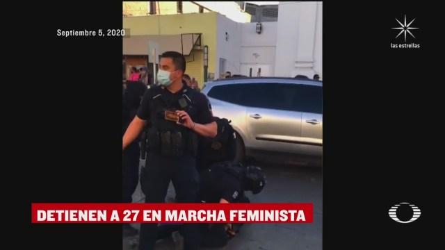 manifestantes mujeres detenidas en Ciudad Juarez Chihuahua