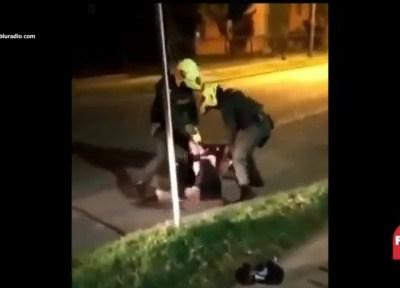 Divulgan video de abuso policial en Colombia