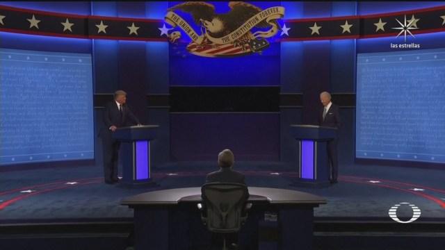 donald trump y joe biden se enfrentan en un primer debate presidencial en eeuu