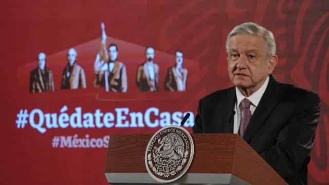 El presidente López Obrador en conferencia