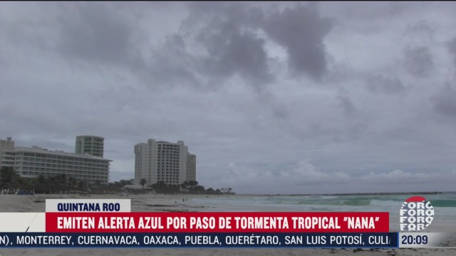 emiten alerta azul en quintana roo por tormenta tropical nana
