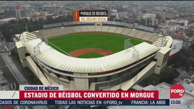 estadio de beisbol fue transformado en enorme morgue por terremoto
