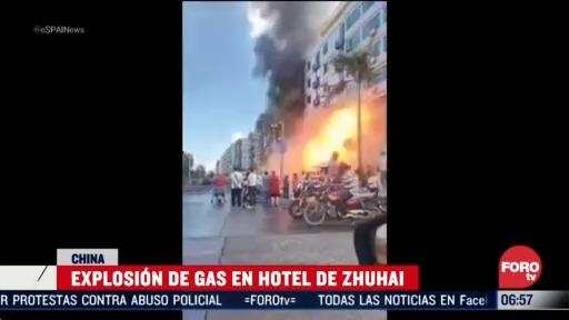 explosion de gas en hotel de zhuhai en china