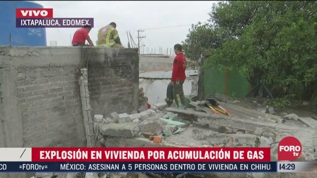 explosion por acumulacion de gas en ixtapaluca