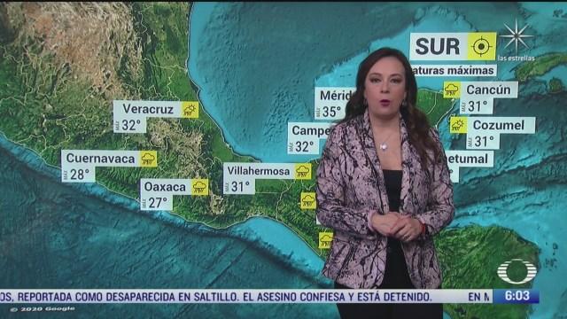 frente frio 4 provocara lluvias y bajas temperaturas en mexico