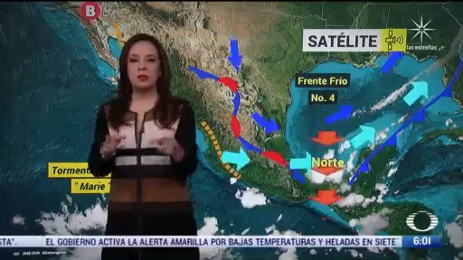 frente frio 4 sigue provocando bajas temperaturas en mexico