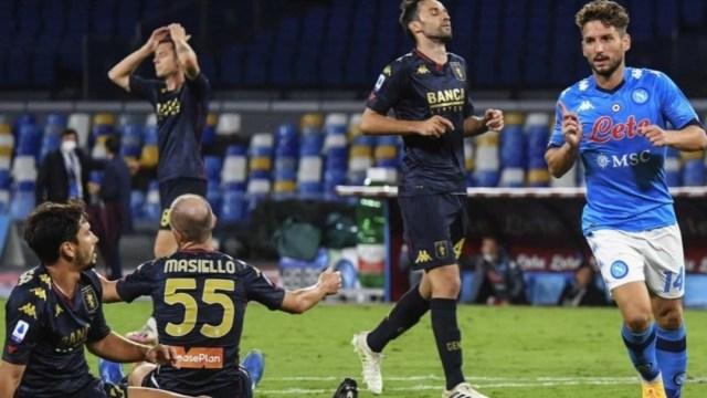 Un juego del Génova FC en la Liga Italia