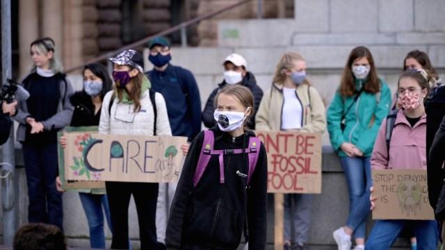 Greta Thunberg y jóvenes vuelven a protestar por el clima en Suecia