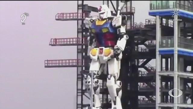 gundam da sus primeros pasos asi se mueve un robot de 25 toneladas