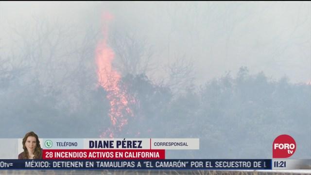 hay 28 incendios activos en california eeuu
