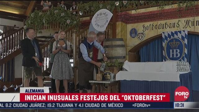 inician inusuales festejos de oktoberfest en alemania