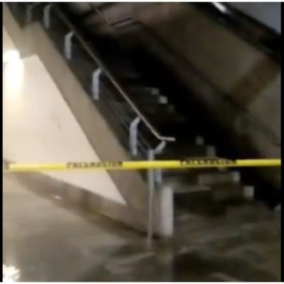Video: Escaleras del Metro Zapata se transforman en cascadas tras fuertes lluvias