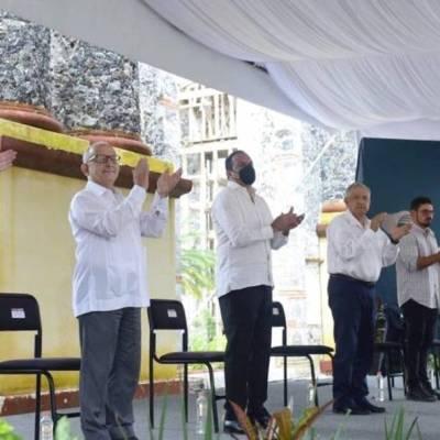El presidente López Obrador supervisó los trabajos de reconstrucción en Jojutla, Morelos, tras el sismo del 19 de septiembre de 2017